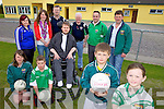 BLITZ: Unveiling details of the Milltown-Castlemaine GAA Club blitz for Powerchair Football on July 17th, front l-r: Katie Dennehy, Tom Keane, Patrick Flanagan, Seamus O'Brien, Caoimhe Burke. Back l-r: Amanda O'Donoghue, Lorna Hickey, Linus Burke, Mike Hickey, Gary Murphy, Padraig Hogan.