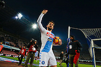 Dries Mertens at the end the  italian serie a soccer match,between SSC Napoli and Torino       at  the San  Paolo   stadium in Naples  Italy , December 18, 2016