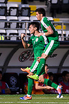 Amanov Arslan of Turkmenistan (L) celebrating scoring the opening goal of the team during the AFC Asian Cup UAE 2019 Group F match between Japan (JPN) and Turkmenistan (TKM) at Al Nahyan Stadium on 09 January 2019 in Abu Dhabi, United Arab Emirates. Photo by Marcio Rodrigo Machado / Power Sport Images