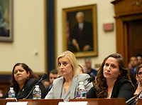 Lila Nordstrom, a woman suffering from 9-11 related illness, listens during a hearing on the 9-11 Victims fund before the Judiciary subcommittee on Capitol Hill in Washington D.C. on June 11, 2019.<br /> <br /> Credit: Stefani Reynolds / CNP/AdMedia