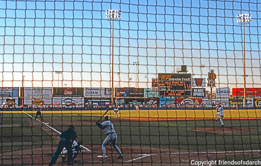 Ballparks: Toledo--Ned Skeldon Stadium. Sold-out exhibition game against Detroit. June 10, 1997.