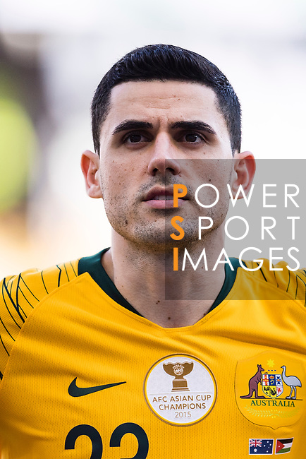 Tom Rogic of Australia is seen prior to the AFC Asian Cup UAE 2019 Group B match between Australia (AUS) and Jordan (JOR) at Hazza Bin Zayed Stadium on 06 January 2019 in Al Ain, United Arab Emirates. Photo by Marcio Rodrigo Machado / Power Sport Images