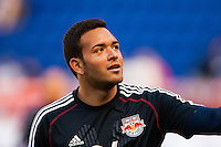 Goalkeeper Santiago Castano (24) of the New York Red Bulls during warmups. The New York Red Bulls and the Columbus Crew played to a 2-2 tie during a Major League Soccer (MLS) match at Red Bull Arena in Harrison, NJ, on May 26, 2013.