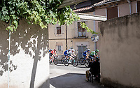 the breakaway storming through, with Nairo Quintana (COL/Movistar) being a prominent rider in there...<br /> <br /> Stage 17: Aranda de Duero to Guadalajara (220km)<br /> La Vuelta 2019<br /> <br /> ©kramon
