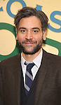 Josh Radnor attends the press reception for the Opening Night of the Lincoln Center Theater Production of 'The Babylon Line'  at the Mitzi E. Newhouse Theatre on December 5, 2016 in New York City.