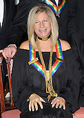 Washington, DC - December 6, 2008 -- Barbra Streisand poses for the formal group photo following the Artist's Dinner at the United States Department of State in Washington, D.C. on Saturday, December 6, 2008 to honor 2008 recipients of the Kennedy Center Honors..Credit: Ron Sachs - Pool via CNP