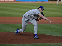 May 12, 2004:  Zach Hammes of the Columbus Catfish, South Atlantic League (low-A) affiliate of the Los Angeles Dodgers, during a game at Classic Park in Eastlake, OH.  Photo by:  Mike Janes/Four Seam Images
