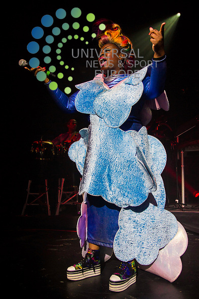 Basement Jaxx play a show at Edinburgh's Picture House.<br /> Basement Jaxx are a British electronic dance music duo consisting of Felix Buxton and Simon Ratcliffe. The pair got their name from the regular club night they held in their hometown of London <br /> Picture: Duncan McGlynn/Universal News And Sport (Scotland) 02/12/2013.