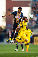 The Philadelphia Union defeated the Columbus Crew 3-0 during a Major League Soccer (MLS) match at PPL Park in Chester, PA, on June 5, 2013.