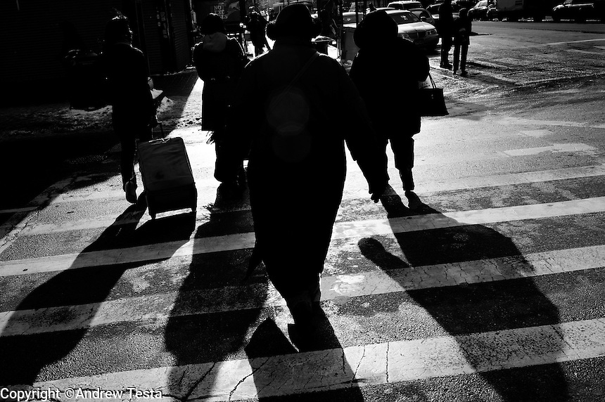 USA. Manhattan. 20th January 2009.Obama supporters leave an inauguration gathering, Harlem..©Andrew Testa