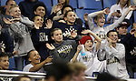 A group of kids watch themselves dance on the arena big screen during the NIAA basketball state tournament at Lawlor Events Center, in Reno, Nev., on Thursday, Feb. 27, 2014. (Cathleen Allison/Las Vegas Review-Journal)