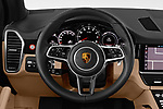Car pictures of steering wheel view of a 2019 Porsche Cayenne Base 5 Door SUV
