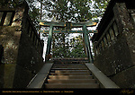Dou Torii Bronze Torii Gate Monolithic Stone Steps to Okusha Inner Shrine Nikko Toshogu Shrine Nikko Japan