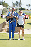 Oliver Wilson (ENG) with his family after Round 3 of the Portugal Masters, Dom Pedro Victoria Golf Course, Vilamoura, Vilamoura, Portugal. 26/10/2019<br /> Picture Andy Crook / Golffile.ie<br /> <br /> All photo usage must carry mandatory copyright credit (© Golffile   Andy Crook)