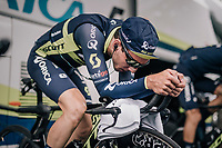 Simon Yates (GBR/Orica-Scott) warming up<br /> <br /> 104th Tour de France 2017<br /> Stage 1 (ITT) - D&uuml;sseldorf &rsaquo; D&uuml;sseldorf (14km)