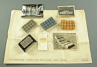 BNPS.co.uk (01202 558833)<br /> Pic: MitchellsAuctionHouse/BNPS<br /> <br /> PICTURED: Steer-Webster's concrete mattress plans, models and photos.<br /> <br /> The fascinating archive of one of the engineers who designed the Mulberry Harbours which were installed off the Normandy coast following the D-Day landings has come to light.<br /> <br /> Colonel Vassal Charles Steer-Webster OBE helped create the giant, floating artificial harbours which protected anchored supply ships from German attacks.<br /> <br /> They were built in the dry docks on The Thames and Clyde and pulled across the channel by tugs before being hastily assembled.<br /> <br /> Col Steer-Webster was in almost daily contact with Churchill during their development ahead of June 6, 1944. Now, his personal effects, including a letter of thanks from Winston Churchill, are being sold by his nephew with Mitchells Auctioneers, of Cockermouth, Cumbria. <br /> <br /> The archive, which is expected to fetch £15,000, also features 150 photos showing Mulberry B's construction and use, as well as his medals.