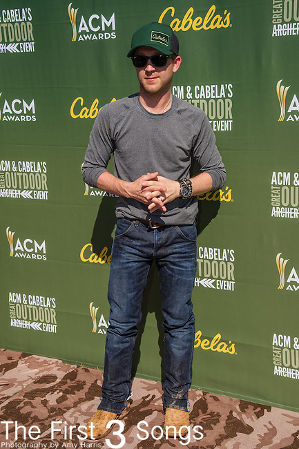 Justin Moore attends the ACM & Cabela's Great Outdoor Archery Event during the 50th Academy Of Country Music Awards at the Texas Rangers Youth Ballpark on April 18, 2015 in Arlington, Texas.