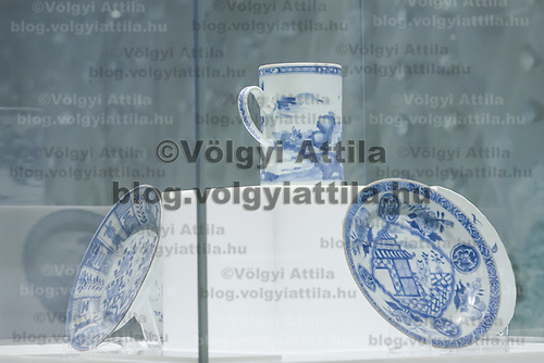 Pottery artifacts from the Ca Mau shipwreck are seen at an exhibition by famous Hungarian collector Istvan Zelnik in Budapest, Hungary on April 16, 2012. ATTILA VOLGYI