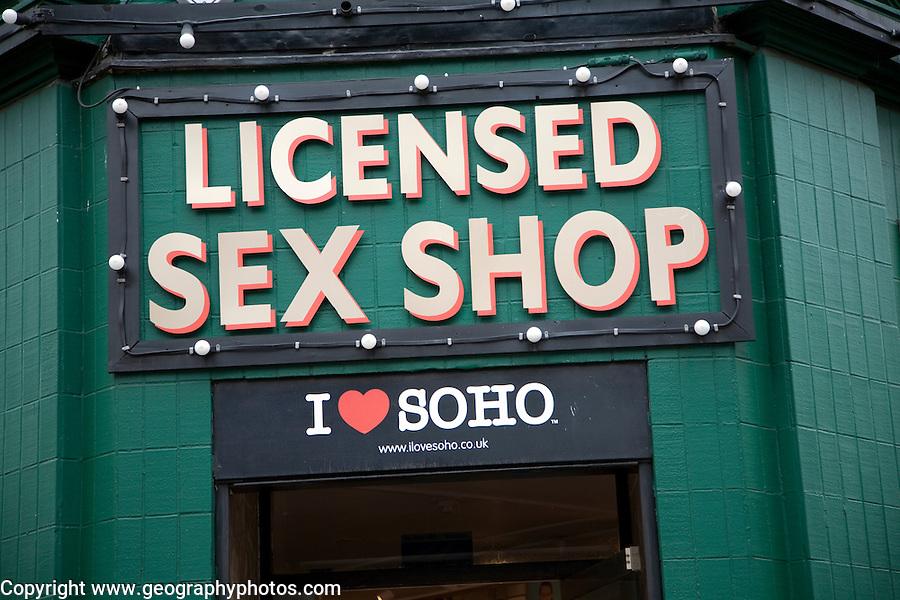 Licensed sex shop, Soho London, England