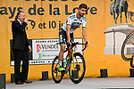 World Champion Peter Sagan (SVK) Bora-Hansgrohe arrives on stage at the Team Presentations for the 105th Tour de France 2018 held on Napoleon Square in La Roche-sur-Yon, France. 5th July 2018. <br /> Picture: ASO/Bruno Bade | Cyclefile<br /> All photos usage must carry mandatory copyright credit (&copy; Cyclefile | ASO/Bruno Bade)