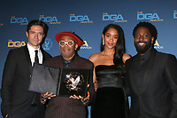 LOS ANGELES - FEB 2:  Topher Grace, Spike Lee, Laura Harrier, John David Washington at the 2019 Directors Guild of America Awards at the Dolby Ballroom on February 2, 2019 in Los Angeles, CA