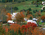 Orange County, VT<br /> Village of East Orange with trees in fall colors