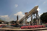 Colleferro.Monumento dedicato all' ARIANE .I booster vengono prodotti nello stabilimento AVIO.