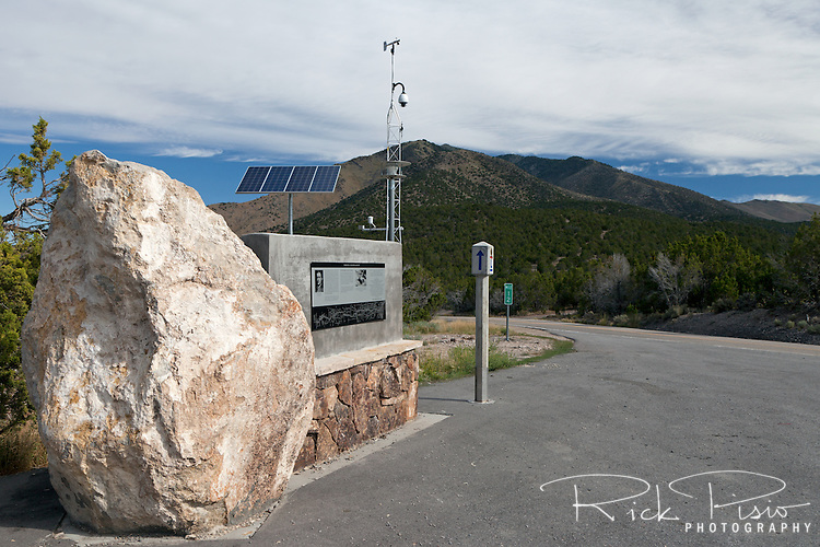 Lincoln Highway monument to Carl Fisher at Fisher Pass in Utah.