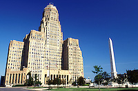 Buffalo, NY, New York, City Hall at Niagara Square in downtown Buffalo.