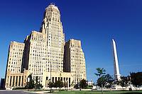 Buffalo, NY, New York, City Hall at Niagara Square in downtown Buffalo.
