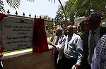 Palestinian Prime minister Salam Fayyad, attends the opening of A Gemayzeh  Street and the project of Tourist kiosks in the West Bank city of Jericho on June 20, 2012.. Photo by Mustafa Abu Dayeh