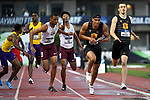 EUGENE, OR - JUNE 8: Michael Norman of the USC Trojans takes the hand off from Zach Shinnick in the 4x400 meter relay during the Division I Men's Outdoor Track & Field Championship held at Hayward Field on June 8, 2018 in Eugene, Oregon. (Photo by Jamie Schwaberow/NCAA Photos via Getty Images)