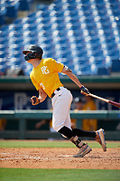 Benny Montgomery (23) of Red Land High School in Lewisberry, PA during the Perfect Game National Showcase at Hoover Metropolitan Stadium on June 18, 2020 in Hoover, Alabama. (Mike Janes/Four Seam Images)