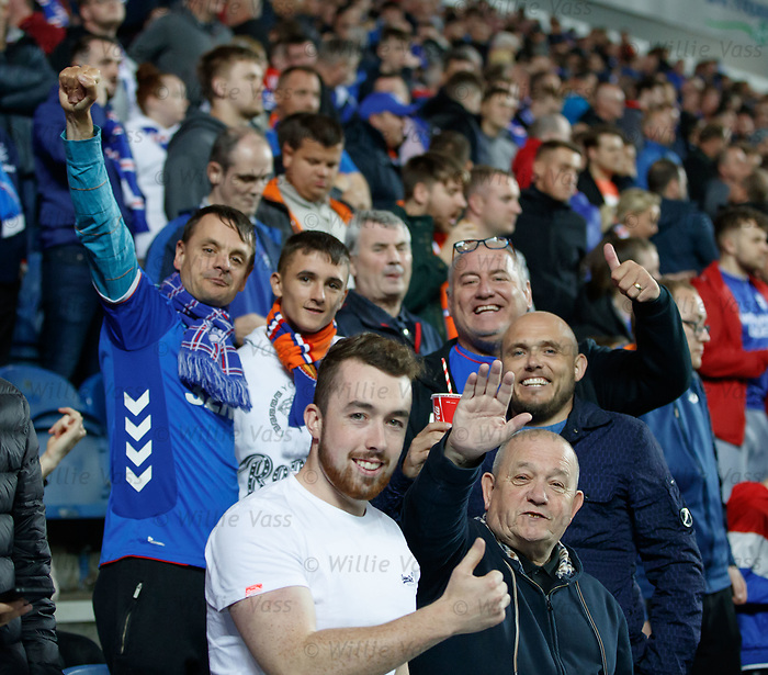 29.08.2019 Rangers v Legia Warsaw: Rangers fans