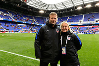 Harrison, NJ - Sunday March 04, 2018: SheBelieves Cup during a 2018 SheBelieves Cup match match between the women's national teams of the United States (USA) and France (FRA) at Red Bull Arena.