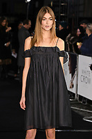 "LONDON, UK. March 08, 2019: Eve Delf arriving for the premiere of ""The White Crow"" at the Curzon Mayfair, London.<br /> Picture: Steve Vas/Featureflash"