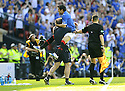 30/05/2009  Copyright  Pic : James Stewart.sct_jspa_08_rangers_v_falkirk.NACHO NOVO CELEBRATES AFTER SCORING THE ONLY GOAL OF THE GAME.James Stewart Photography 19 Carronlea Drive, Falkirk. FK2 8DN      Vat Reg No. 607 6932 25.Telephone      : +44 (0)1324 570291 .Mobile              : +44 (0)7721 416997.E-mail  :  jim@jspa.co.uk.If you require further information then contact Jim Stewart on any of the numbers above.........
