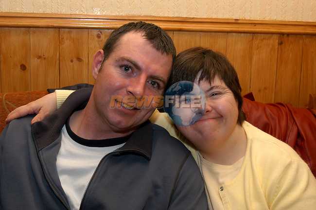 Fiachra Wall and Jackie Keegan enjoying the Karaoke in the Poets rest in Slane..Photo: Colin Bell / Newsfile