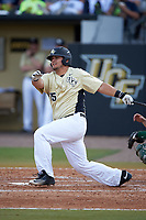 UCF Knights Austin Griffin (15) at bat during a game against the Siena Saints on February 21, 2016 at Jay Bergman Field in Orlando, Florida.  UCF defeated Siena 11-2.  (Mike Janes/Four Seam Images)