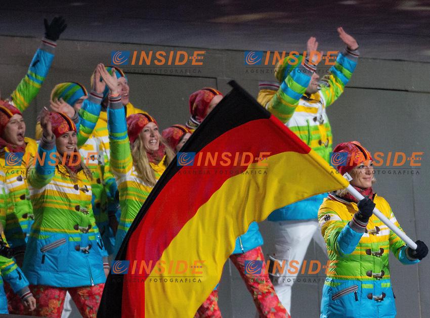 Squadra Germania divisa arcobaleno <br /> 07.02.2014, Olympiastadion Fischt, Adlerer<br /> Cerimonia Inaugurale Apertura <br /> Sochi 2014 Olimpiadi Invernali. Olympic Winter Games <br /> Foto EXPA/ Insidefoto