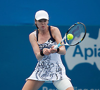 GALINA VOSKOBOEVA..Tennis - Apia Sydney International -  Sydney 2013 -  Olympic Park - Sydney - NSW - Australia.Monday 7th January  2013. .© AMN Images, 30, Cleveland Street, London, W1T 4JD.Tel - +44 20 7907 6387.mfrey@advantagemedianet.com.www.amnimages.photoshelter.com.www.advantagemedianet.com.www.tennishead.net