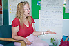 A female teacher in a parenting class; run by the Aspire Training Scheme for young mothers and mothers to be,