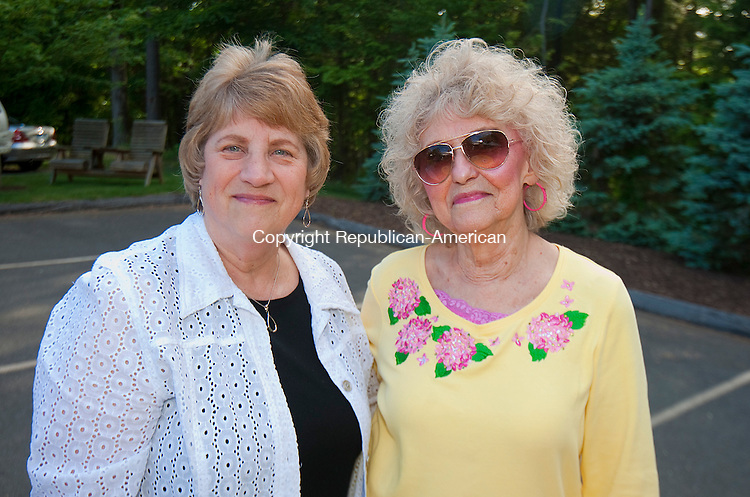 TORRINGTON, CT--060515J20-   Dora LaMere and Doris Richards, both of Torrington, at the Butterfly Affair Friday at the Center for Cancer Care in Torrington. The event was a befit for The Center for Cancer Care Fund of Litchfield Hills. The Fund supports cancer patients by providing them with financial assistance. To date, the event has raised more than $89,000 for the Fund. <br /> Jim Shannon Republican-American