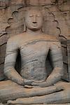 Buddha statue figure, Gal Viharaya, UNESCO World Heritage Site, the ancient city of Polonnaruwa, Sri Lanka