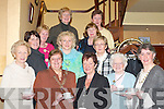 PANCAKES: Killarney Soroptimists who held a Pancake and Coffee Morning in the Killarney Royal Hotel on Tuesday. Front row l-r: Ann OConnor (representing Br Ronan), Mayor Sheila Casey, June Twomey (St Columbanus Home), Aileen Leahy, Julia Lucey (President Killarney Soroptimists). Back row l-r: Margaret Scannell, Noreen Browne, Noreen OSullivan, Eileen Foley, Margaret Kidney, Peggy Reichert and Rona Looney..