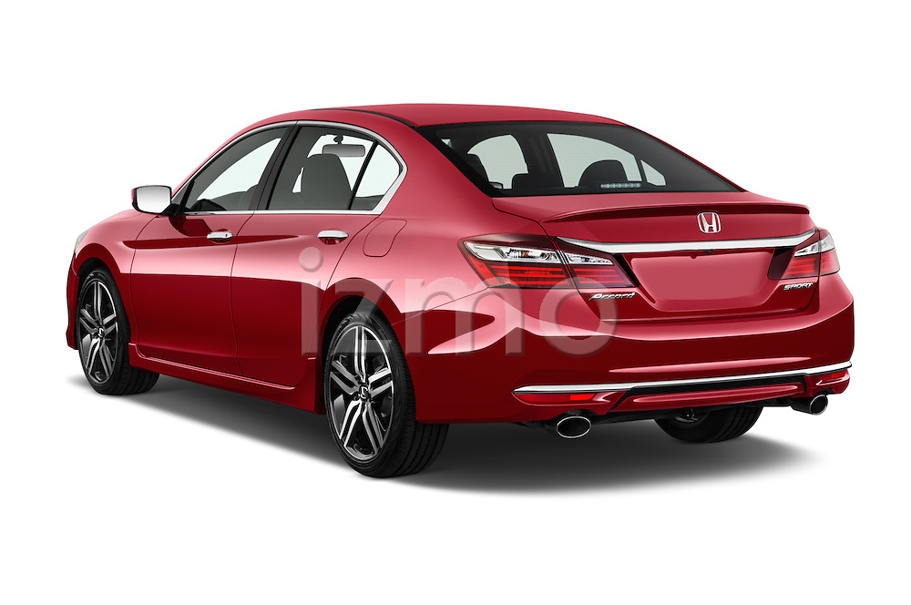 Car pictures of rear three quarter view of 2017 Honda Accord Sport 4 Door Sedan Angular Rear