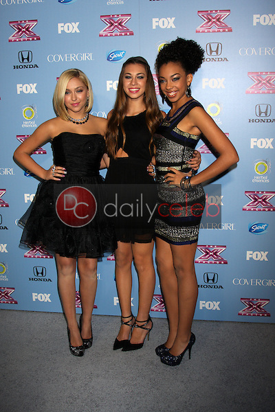 Summer Reign, Celine Polenghi, Millie Thrasher<br /> at the 2013 &quot;X Factor&quot; Top 12 Party, SLS Hotel, Beverly Hills, CA 11-04-13<br /> David Edwards/Dailyceleb.com 818-249-4998