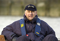 PUTNEY, LONDON, ENGLAND, 05.03.2006,Umpire for Oxford USA crew race, Boris Rankov relax's before the start of the race. Pre 2006 Boat Race Fixtures,.   © Peter Spurrier/Intersport-images.com..[Mandatory Credit Peter Spurrier/ Intersport Images] Varsity Boat Race, Rowing Course: River Thames, Championship course, Putney to Mortlake 4.25 Miles
