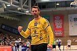 09.11.2019, Hansehalle Luebeck, GER,  2.Bundesliga Handball VfL Luebeck-Schwartau - TV Emsdetten<br /> <br /> im Bild / picture shows<br /> Einzelaktion/Aktion. Ganze Figur. Einzeln. Freisteller. #h32# jubelt.<br /> <br /> Foto © nordphoto / Tauchnitz