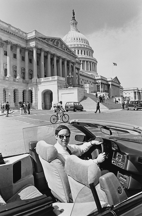 Rep. Fred Upton, R-Mich., sitting in his car outside Capitol Hill on the last day before Easter Recess. (Photo by Maureen Keating/CQ Roll Call via Getty Images)